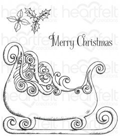 Ornate Sleigh Cling Stamp Set