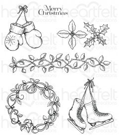 Celebrate the Season Cling Stamp Set