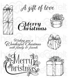 Gift Wrapped Presents Cling Stamp Set