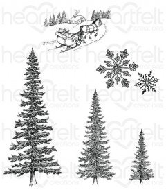 Snow Kissed Spruce Cling Stamp Set