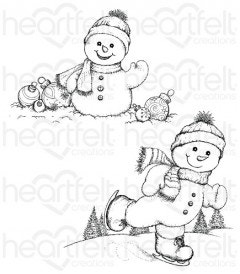Frolicking Frosty Cling Stamp Set