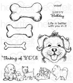 Paw-fect Pooches Cling Stamp Set