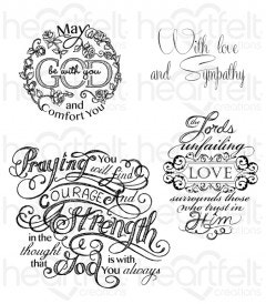 Courage and Strength Cling Stamp Set