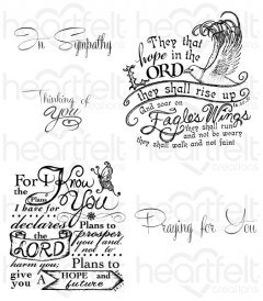 Soar on Eagle's Wings Cling Stamp Set
