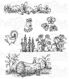 Woodsy Wonderland Cling Stamp Set