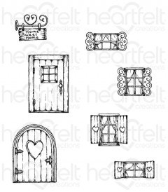 Wildwood Cottage Cling Stamp Set