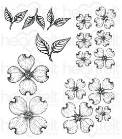 Flowering Dogwood Cling Stamp Set