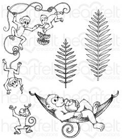 Monkeying Around Cling Stamp Set