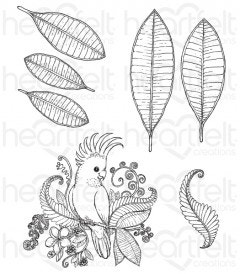 Tropical Cockatoo Cling Stamp Set