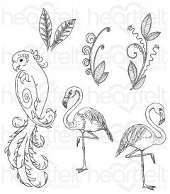 Tropical Paradise Cling Stamp Set