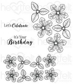 Small Classic Petunia Cling Stamp Set
