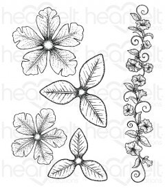 Large Classic Petunia Cling Stamp Set
