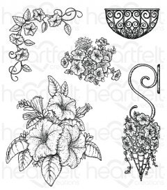 Classic Petunia Bouquet Cling Stamp Set