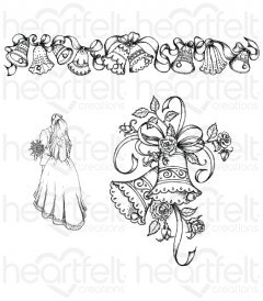 Classic Wedding Bells Cling Stamp Set