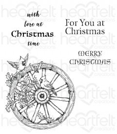 Festive Holiday Cling Stamp Set