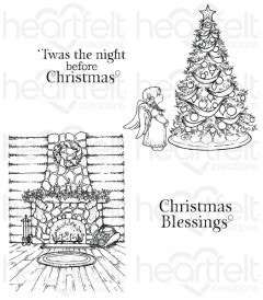 Winter's Eve Cling Stamp Set