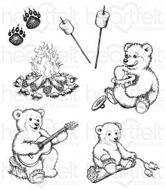 Beary Fun Retreat Cling Stamp Set