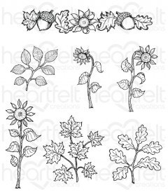 Sunflower Accents Cling Stamp Set