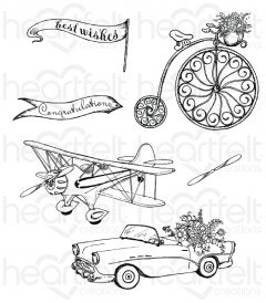 Young At Heart Cling Stamp Set
