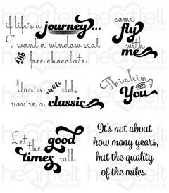 Good Times Sentiments Cling Stamp Set