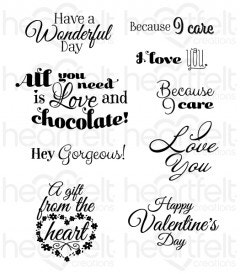 Heartfelt Love Sentiments Cling Stamp Set