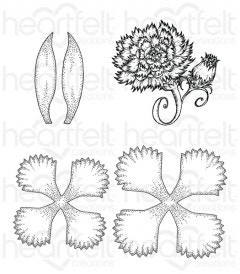 Large Camelia Carnation Cling Stamp Set