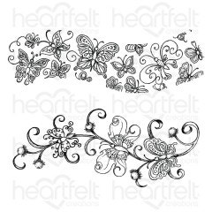 Butterfly Dreams Border Cling Stamp Set