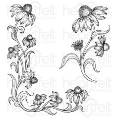 Blossoming Coneflower Cling Stamp Set