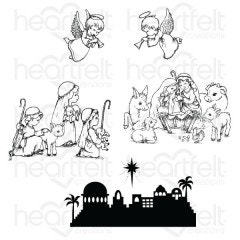 O Holy Night Cling Stamp Set