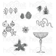 Merry and Bright Accents Cling Stamp Set
