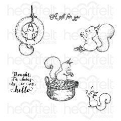 Furry-Tailed Frolic Cling Stamp Set