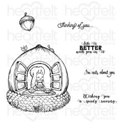 Oakberry Cottage & Sentiments Cling Stamp Set