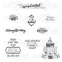 Special Birthday Sentiments Cling Stamp Set