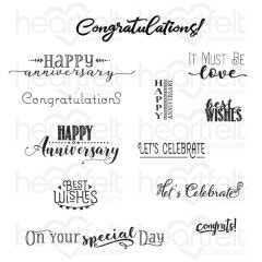 Celebrate Love Sentiments Cling Stamp Set