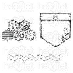 Patchwork Pocket & Patterns Cling Stamp Set