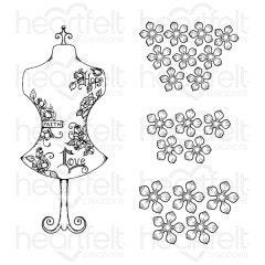 Floral Fashionista Cling Stamp Set