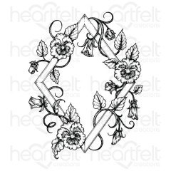 Petite Pansy Frame Cling Stamp Set