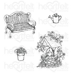 Wishing Well Oasis Cling Stamp Set