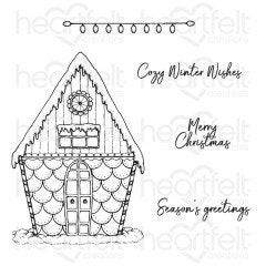 Candy Cane Cottage Cling Stamp Set