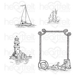 A Day at Sea Cling Stamp Set