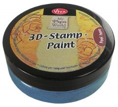 Light Blue Metallic 3D Stamp Paint