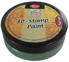Lime Green Metallic 3D Stamp Paint