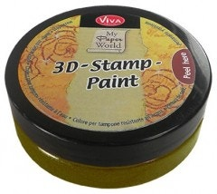 Moss Green Metallic 3D Stamp Paint