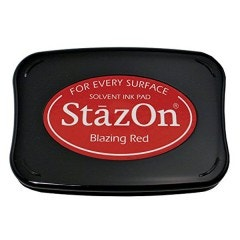 StazOn Ink Pad - Blazing Red