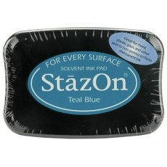 StazOn Ink Pad - Teal Blue