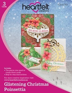 Glistening Christmas Poinsettia Class Kit