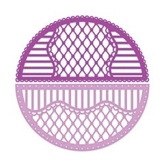 Rounded Lattice Window Die