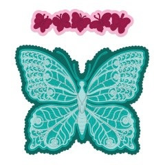 Large Floral Butterfly Die