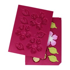 Large 3D Wild Rose Shaping Mold