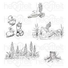 Create a 'scape Nature Cling Stamp Set